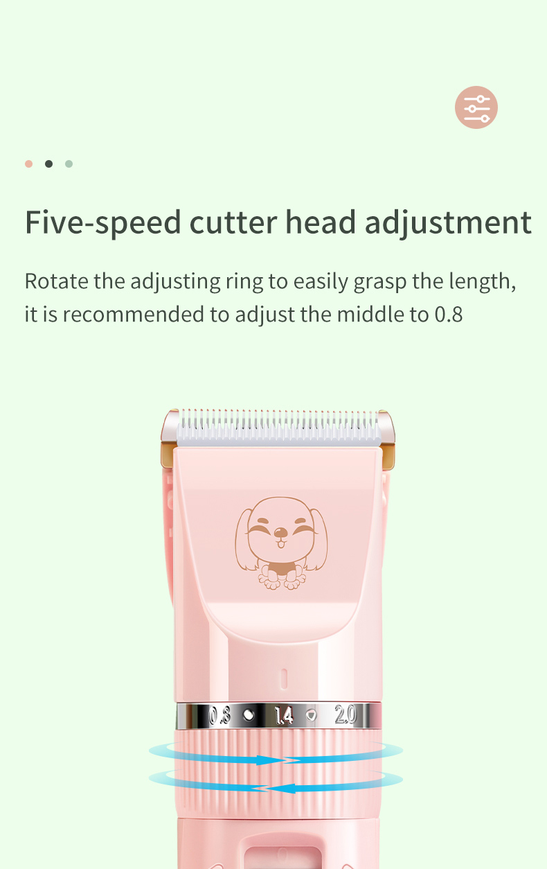 Dog Clipper Dog Hair Clippers Grooming Haircut Trimmer Shaver Set Pets cordless Rechargeable Professional