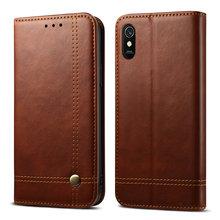 Redmi 9A Case Retro Leather Flip Cover for Xiaomi Redmi 9A Luxury Case Card Slot Phone Shell Redmi 9 A A9 Wallet Cover Red Mi 9A