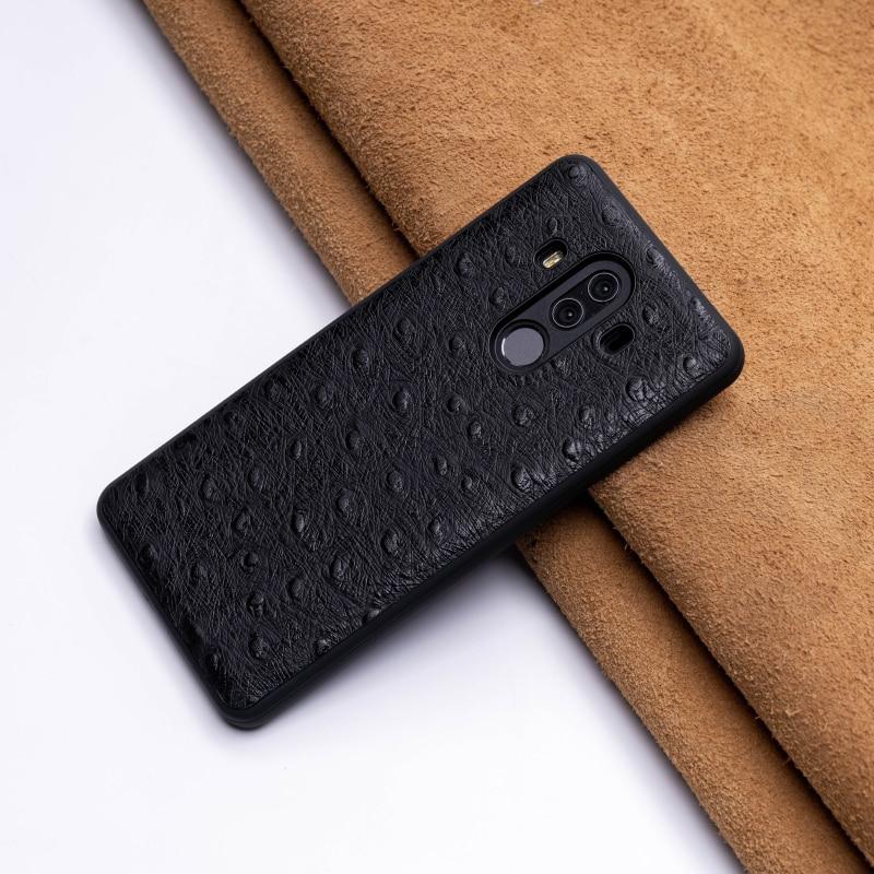 Étui pour huawei téléphone peau d'autruche P10 P20 Mate 20 10 9 Pro Lite étui Nova 3 3i bord souple en TPU pour Honor 8X Max 9 10 lite