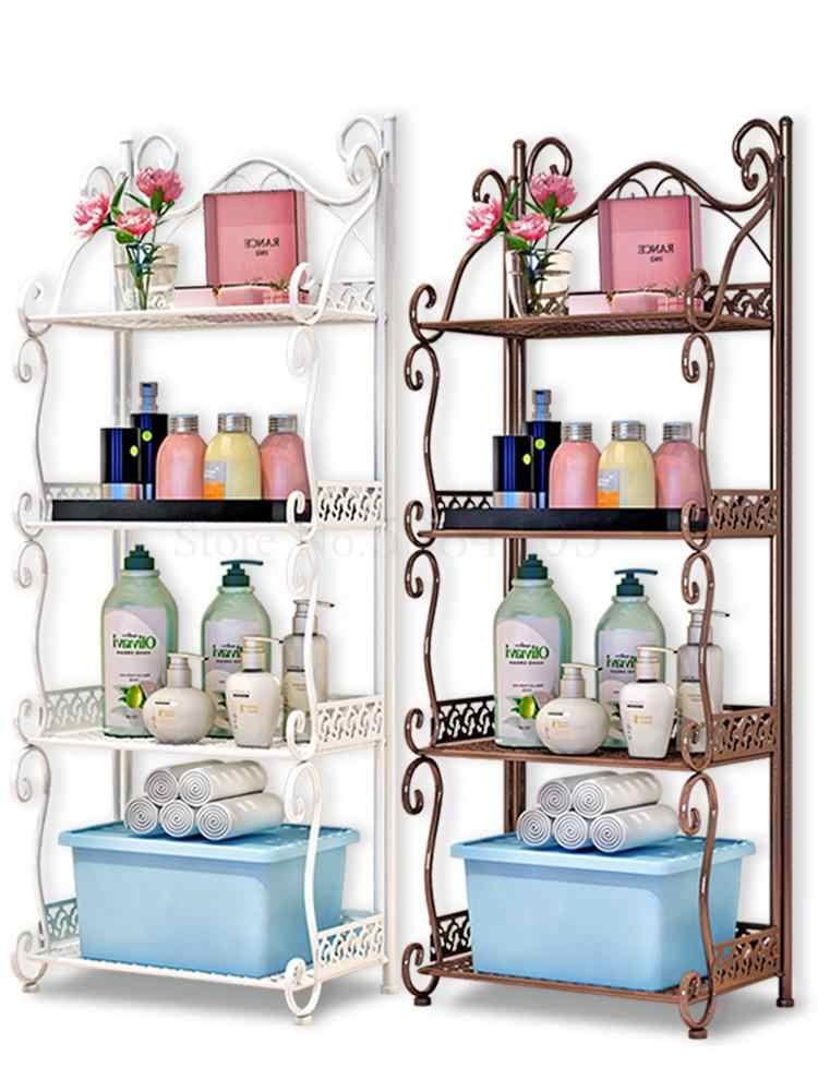 Prateleira do banheiro, tipo banheiro, banheiro, ferro prateleira multi-camada, quarto, cozinha, rack de armazenamento de canto