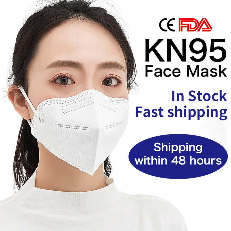 1PCS KN95 PM 2.5 Disposable Mask Anti-Dust Activated Carbon Mask Soft Breathable Elastic Kn90 KN95 Masks Ear Loops 3 Layer Masks