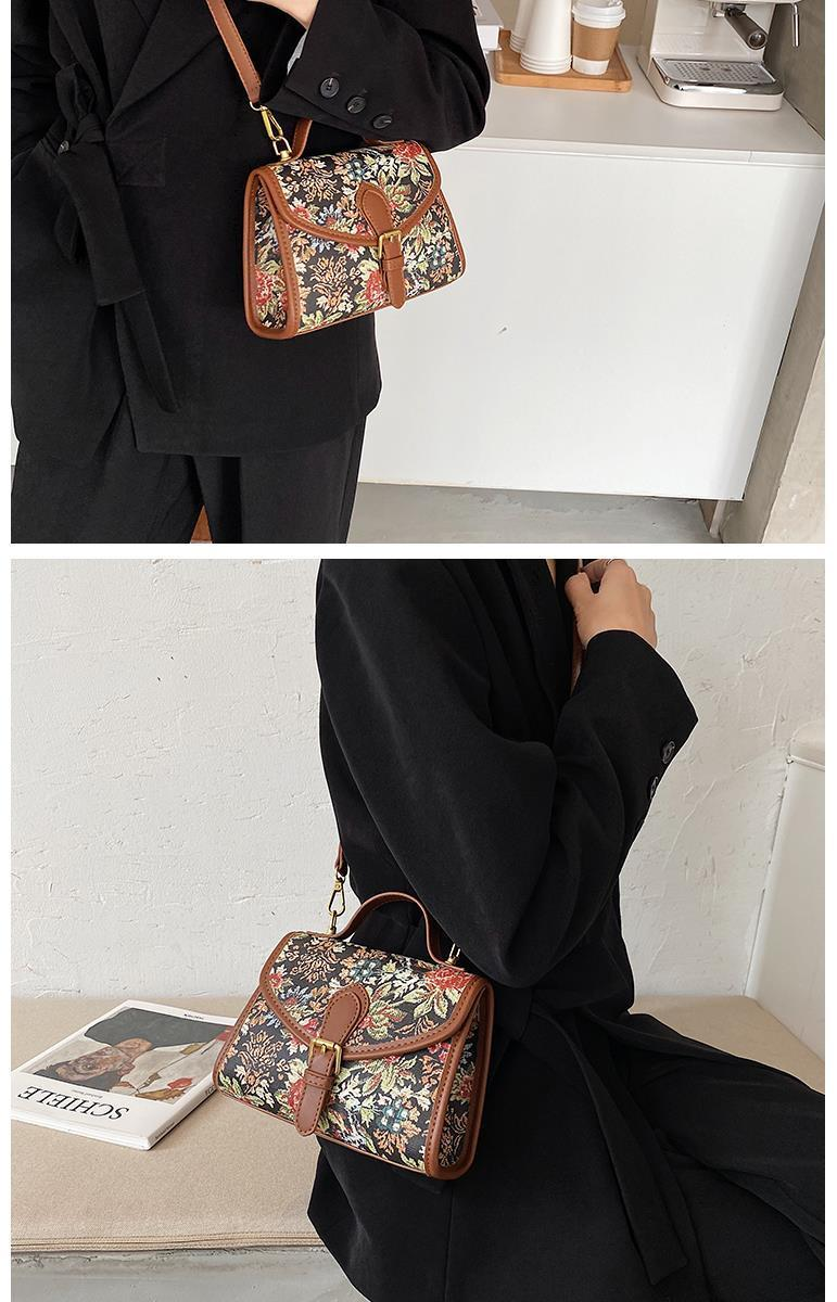 vintage flowers pu leather women's handbags purses women shoulder crossbody bag bags (23)