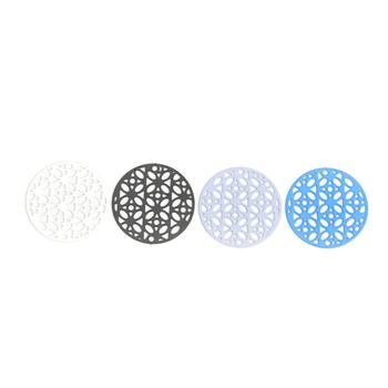 цена на DoreenBeads Fashion Copper Connectors Round Blue Black Red White Violet Filigree Jewelry DIY Findings About 20mm Dia, 10 PCs