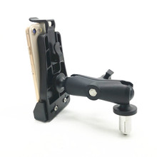 Heavy Duty Fork Stem Mount with 1 inch ball Double Socket Arm Bike Motorcycle Mount Holder Kit Fits for Mobile phone