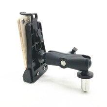 Support de tige de fourche robuste avec 1 pouce boule Double douille bras vélo moto montage Kit de support convient pour téléphone portable