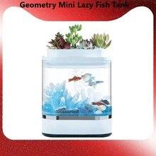 Xiaomi mijia Mini tanque de peces con carga USB para el hogar y la Oficina, luz LED de 7 colores para acuario