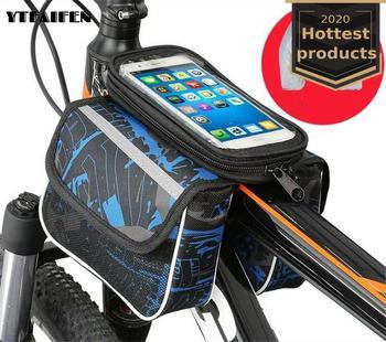 Panniers-Bolsa de Bicicleta Brompton, bolsa para Bicicleta de montaña, moradas, con tapa,...