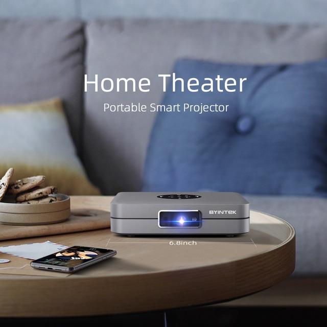 BYINTEK Mini Projector U20 Pro, Android Smart Wifi Beamer, Portable LED DLP Proyector 2