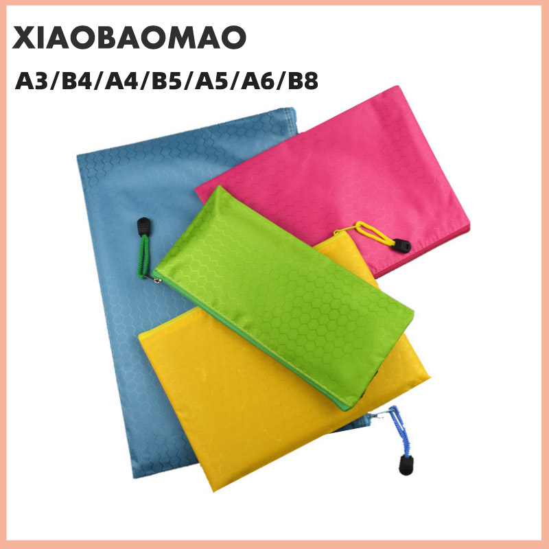 Canvas B8 A6 A5 B5 A4 B4 A3 Zipper Bags Colorful Document Pouch File Bag File Folder Stationery School Words Filing Production 2
