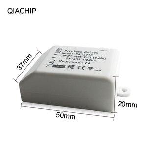 Image 3 - QIACHIP 433.92 MHz אלחוטי מתג אוניברסלי AC 85 265V CH אלחוטי שלט רחוק מקלט 433mhz maxload 7A גבוהה באיכות