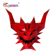 Paper-Mask Cosplay DIY 3D Halloween Costume Prank Party-Gift Demon Cool Crazy Fashion