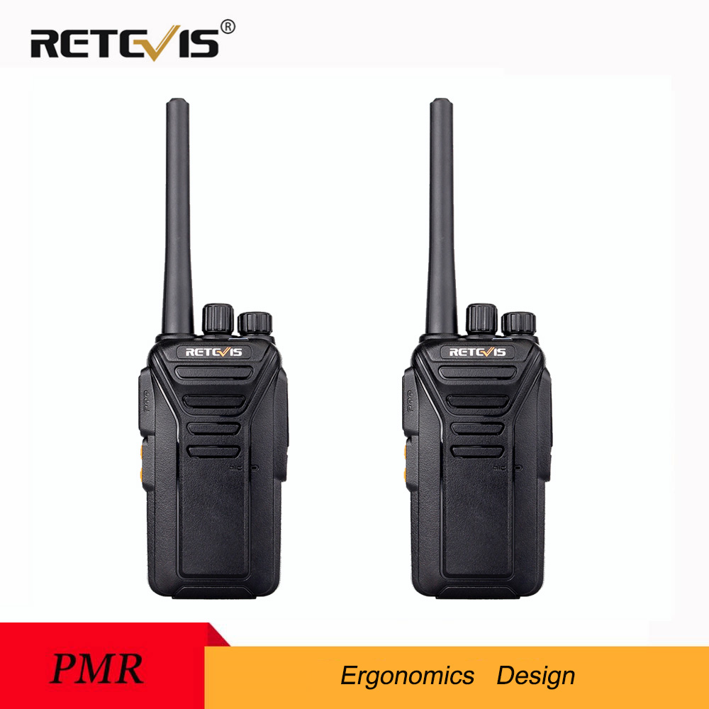 2pcs Retevis RT27 Walkie Talkie PMR Radio PMR446/FRS 0.5W/2W VOX USB Charging Scrambler Portable 2 Way Radio Station Transceiver