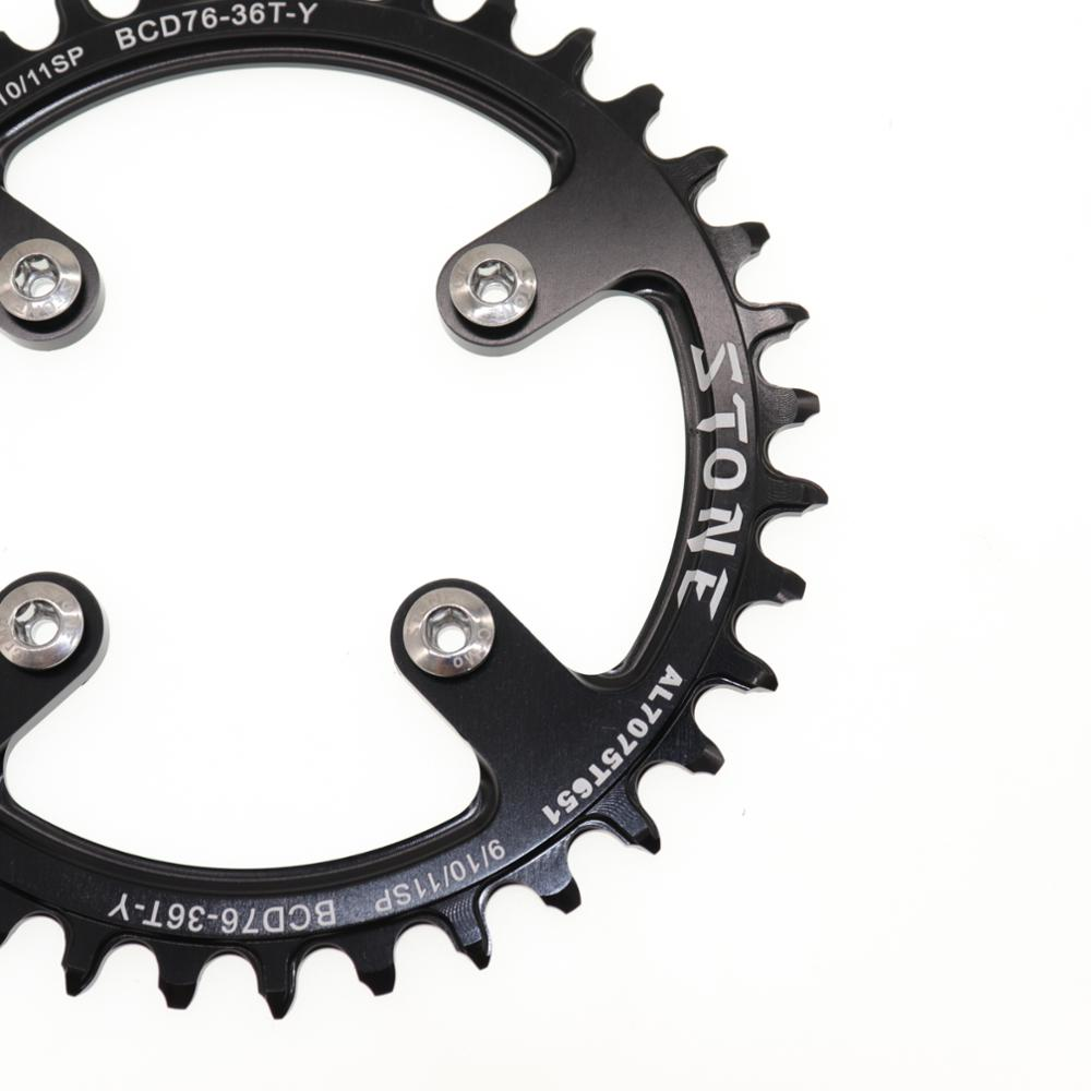 Stone 76 BCD Round Chainring For Sram XX1 32t 34t 36t 38t 40t 42T tooth Bike Cycling Chainwheel Bicycle toothplate 76bcd in Bicycle Crank Chainwheel from Sports Entertainment
