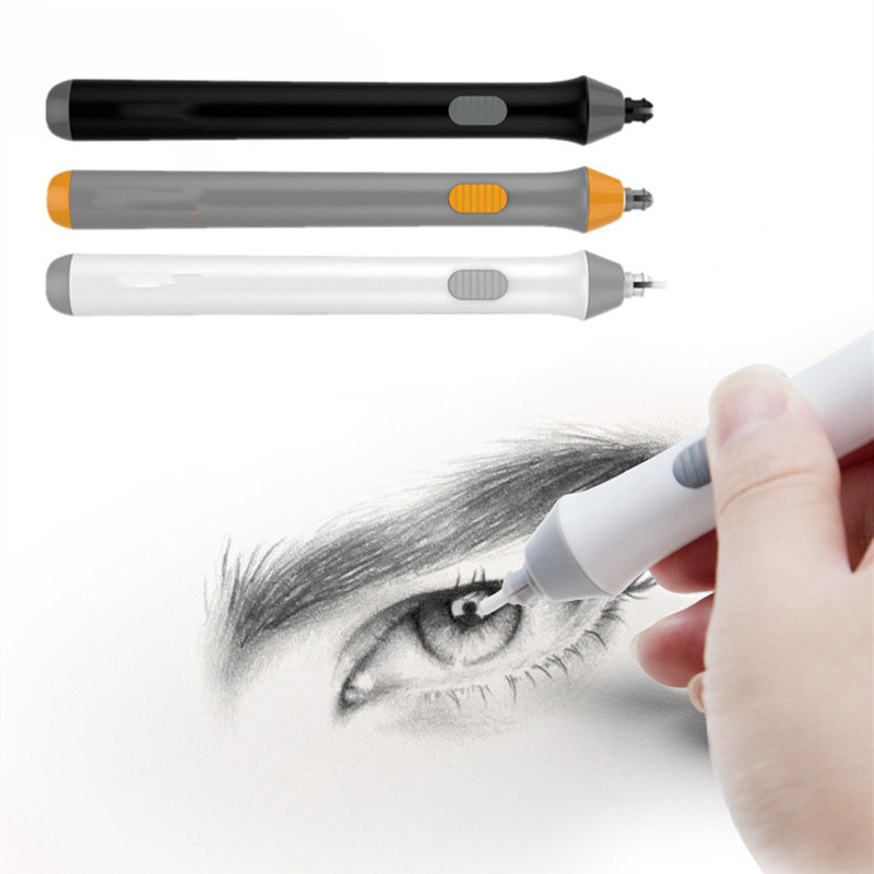 Professional Pencil Electric Eraser Kit Highlights Sketch Drawing Erasing Sketch with 22 Rubber Refills for painting, save time