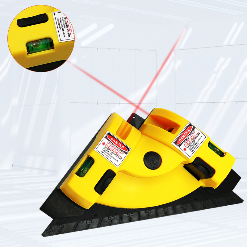 Right Angle <font><b>90</b></font> Degree Square Laser Level High Quality Level Tool Laser Measurement Tool Level Laser Horizontal Vertical Bubble image