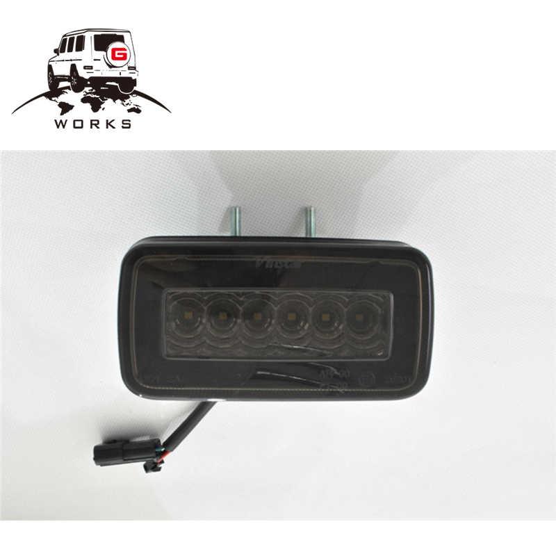 W463 noir et rouge antibrouillard pour g500 g63 g65 g63 pare-chocs arrière LED antibrouillard 2002 ~ 2014 année