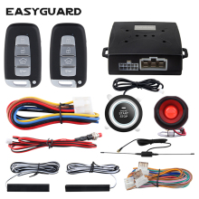 EASYGUARD auto pke security alarm remote engine start push button start stop keyless entry system universal versie auto alarm