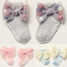 Socks Pearl Newborn-Baby Toddler Baby-Girl Cotton Summer Months Bow 0-24 Thin Neonatal
