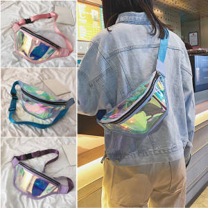 Bum-Bag Holographic Belt Fanny-Pack Laser Punk Transparent Waterproof Fashion Women Clear