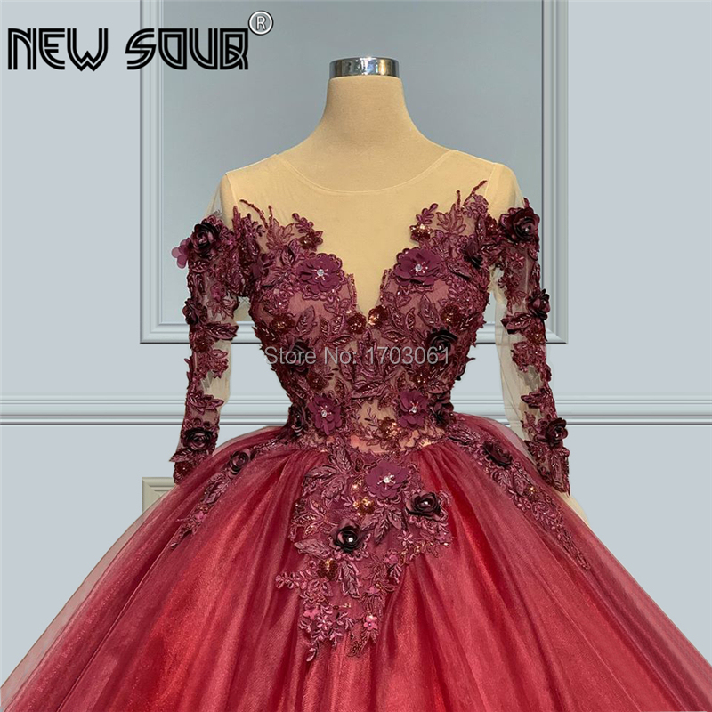 Saudi Arabia Embroidery Beading Evening Dresses Pageant Party Dress 2020 Couture Kaftans Turkish Puffy Prom Gowns Middle East