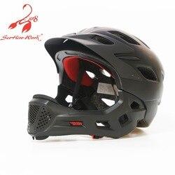 Pro protection kask rower dla dzieci 2019 dzieci pełna twarz kask rowerowy sport górska droga rowerowa BMX race triathlon przeważają