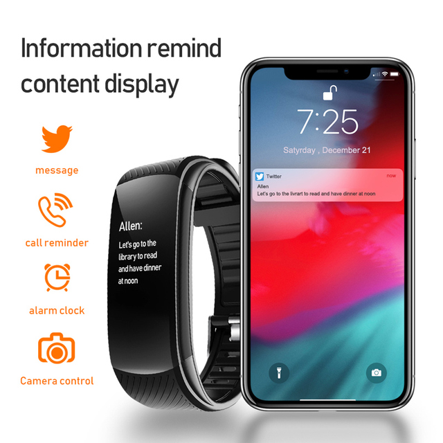 Sport Fitness Bracelet Waterproof  Fitness Tracker Blood Pressure Heart Rate Monitor Smart Band Watch For Android IOS Phone 4