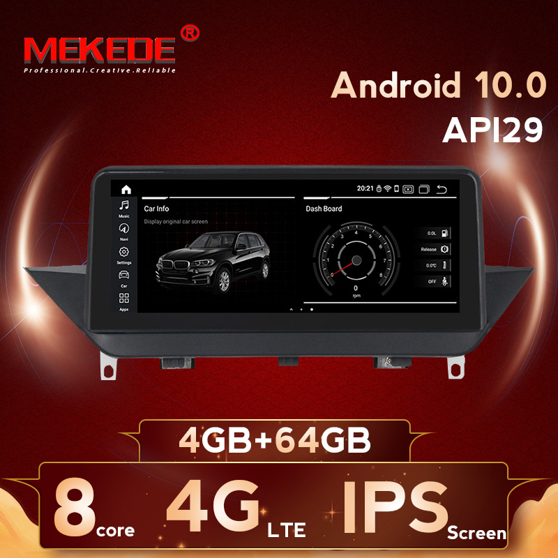MEKEDE 6 core 2+32 PX6 Android 9.0 car DVD GPS player for <font><b>BMW</b></font> X1 E84 2009-2015 Without screen or CIC <font><b>10.25</b></font> inch IPS screen image