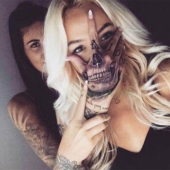 Waterproof Temporary Tattoo Sticker Skull Head Fake Tatto Flash Tatoo hand foot tatouage for Girl Men Women femme