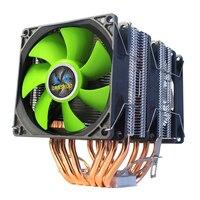 6-Heatpipe وحدة المعالجة المركزية برودة المزدوج برج 12V 9 سنتيمتر مع التبريد مروحة المبرد ل LGA 1150/1151/1155/1156/775/1366 X79 X99 2011 AMD AM3 AM4