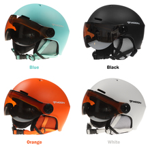 Helmet with Earmuff Goggle Men Women Safety Skiing Professional Snow Sports