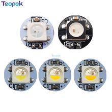 10 500pcs 5050 SMD WS2812B RGB SK6812 RGBW LED 칩 미니 PCB 보드 (10mm * 3mm) 히트 싱크 블랙 화이트 PCB DC5V