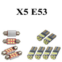 LED Interior Car Lights For Bmw X5 E53  Error free Map Dome Reading Visor Door FootWell Trunk Courtesy 18pc