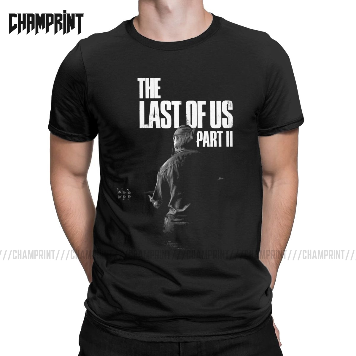 The Last Of Us Winter Song T Shirts Men Pure Cotton T-Shirt Ellie Fireflies Joel Tlou Video Game Tees Short Sleeve Plus Size image