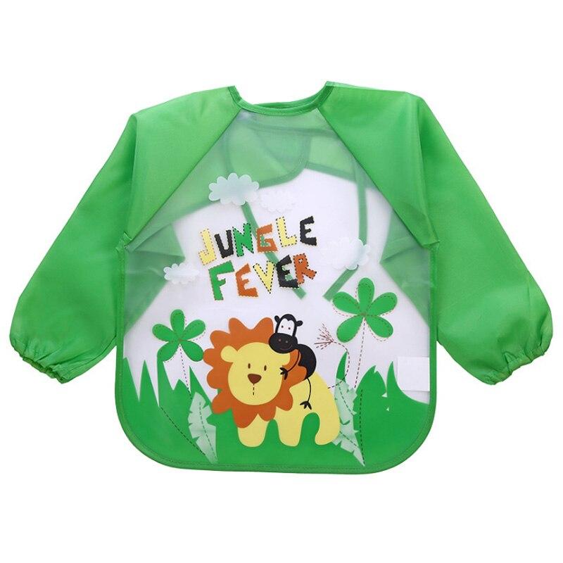 Детские нагрудники, непромокаемая одежда для обеда, передник для кормления мальчиков и девочек, моющийся нагрудник с длинными рукавами для ...