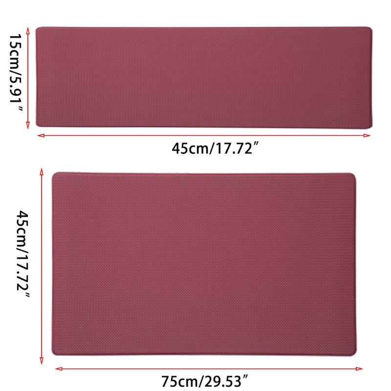 Anti Fatigue Kitchen Mat Diamond Weave Non-Skid Faux Leather Waterproof Rugs E65B