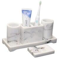 Bathroom Accessories Set Toothbrush Holder Toothbrush Case Bathroom Organizer Acessorio Pra Banheiro Bathroom Decor Set DA60YS
