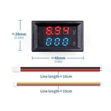 """Мини цифровой вольтметр Амперметр постоянного тока 100 в 10 А Панель Ампер Вольт Напряжение измеритель тока тестер 0,2"""" синий красный двойной светодиодный дисплей"""