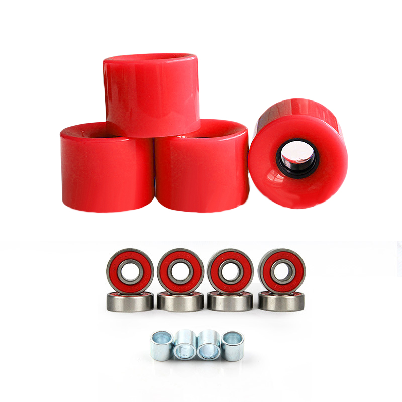 4pcs 78A Hardnes Skateboard PU Wheels 60mmx45mm Assorted Fittings Spacers For Longboard Replacement
