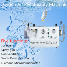 New Oxygen Aqua Jet Peel Machine Water-Oxygen Facial Beauty Rejuvenation Machine Face Cleaning Machine Skin Care Tools 2021