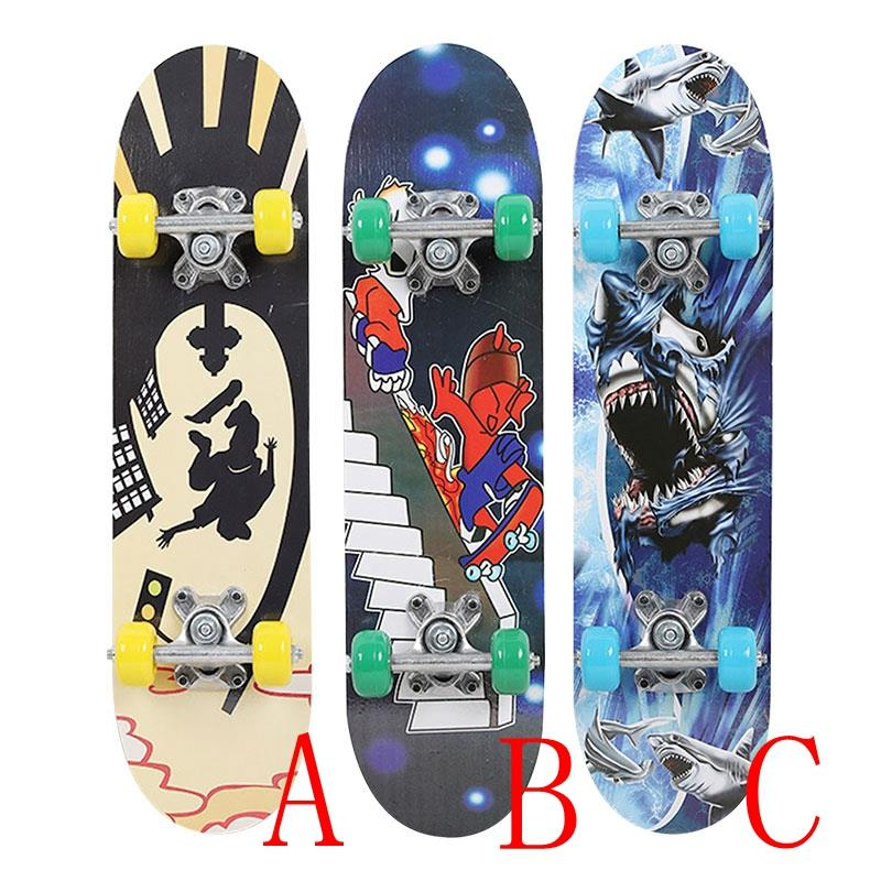 Complete Skateboard Fashionable Popular Maple Wood 3 Style High Speed Extreme Sports Pulley Wheel Deck Skateboard Hoverboard