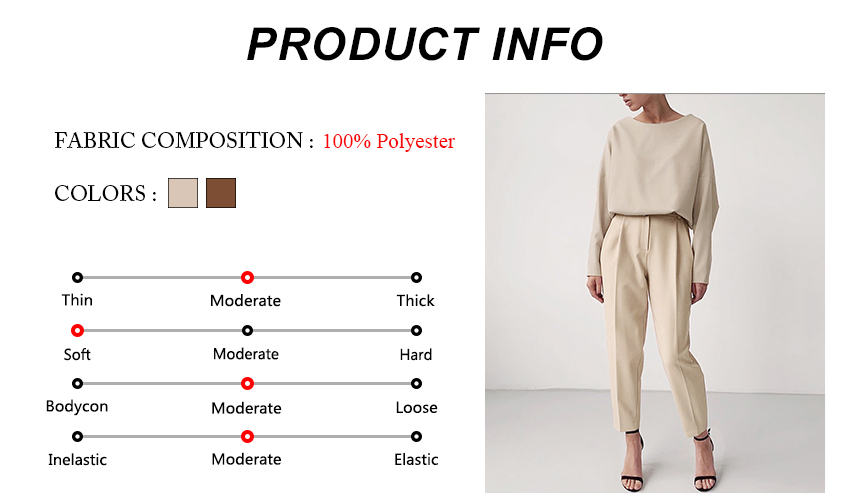 OOTN Casual High Waist Khaki Pants Women Autumn Winter Brown Ladies Office Trousers Zipper Pocket Solid Female Pencil Pants 13