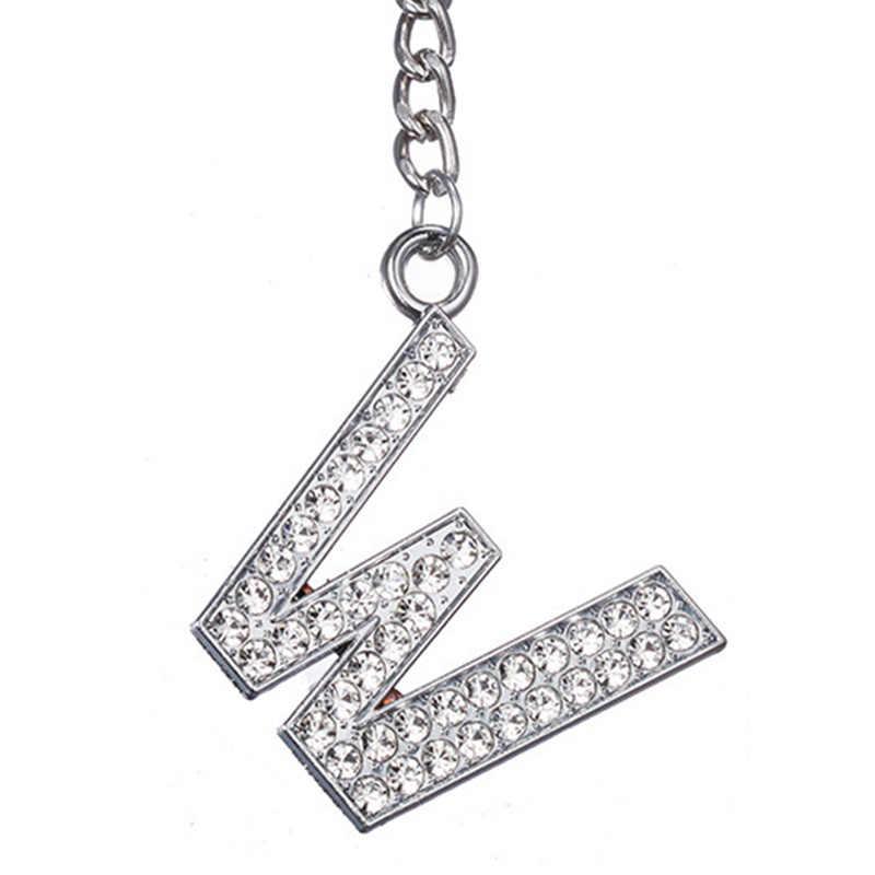 Модные новые хрустальные стразы брелок с алфавитом начальный брелок с буквой цепь унисекс брелок 26 букв