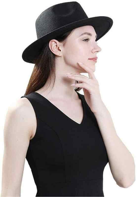Fashion Kasual Topi Pria & Wanita Pedalaman Topi Panama Topi Jazz Topi Koboi Fedoras Leopard Belt Dekorasi