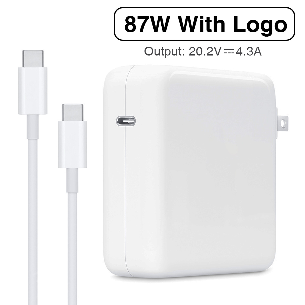 87W PD Power Adapter USB Type-C Charger With USB-C Charging Cable For Apple Latest Macbook pro 15-inch A1706 A1707 A1708 A1719