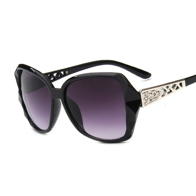 Fashion Square Sunglasses Luxury Brand Big Purple  2