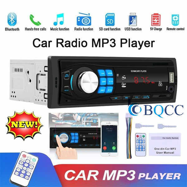 Autoradio 1DIN Auto Radio Stereo In-Dash Bluetooth Audio TF/USB/AUX/FM Kopf Einheit MP3 player