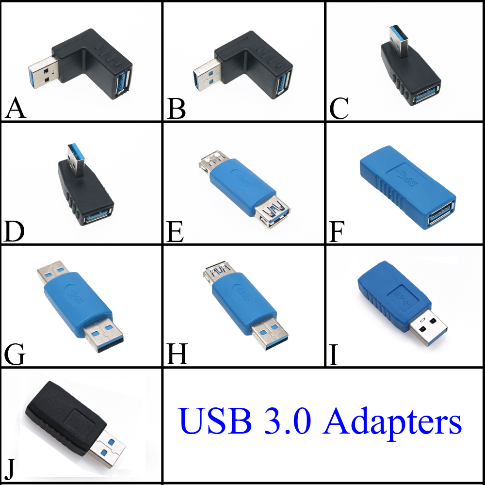 90 Degree /180 Degree Vertical Left Right Up Down Angled USB 3.0 Male To A Female M/F  Male To Male Adapter Connector Converter