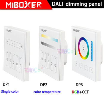 цена на MiBOXER DALI 86 touch panel single color/CCT/RGB+CCT dimming smart led dimmer controller DP1/DP2/DP3 for led strip downlight