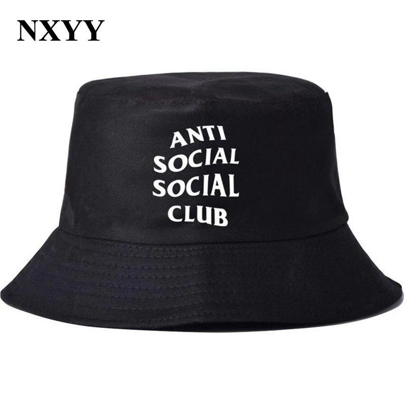 NXYY Hip Hop Bucket Hat Fashion Streetwear Outdoor Social Letter Print Casual Versatile Fisherman Unisex Bucket Cap Simple Hats