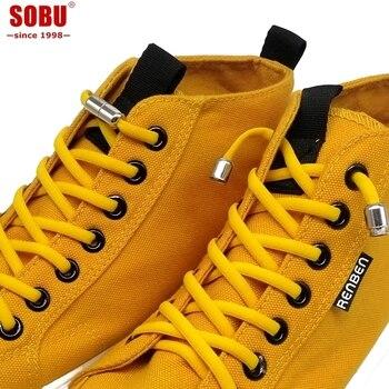 1pair Elastic No Tie Shoelaces Locking Round Quick Shoe Laces Kids Adult Women Men 100cm Semicircle Shoelaces